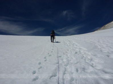 Near the top of Cool Glacier