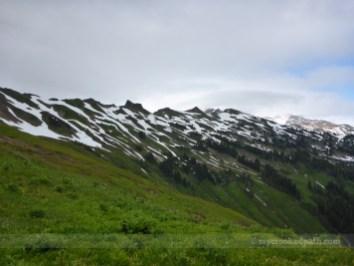 Glacier lies beyond that ridge