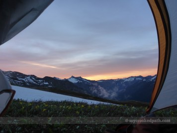 Sunrise from my tent