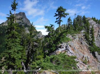 The ridgeline in front of Kaleetan