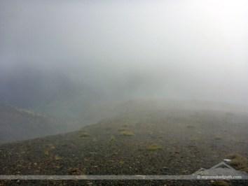 On the ridge, the rim I climbed up to the left
