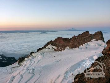 Adams over Cathedral Ridge over Ingraham Glacier