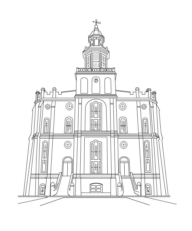 New Temple Clipart – St George, Draper, Ogden