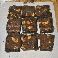 Fudgy Double Chocolate Walnut Brownies