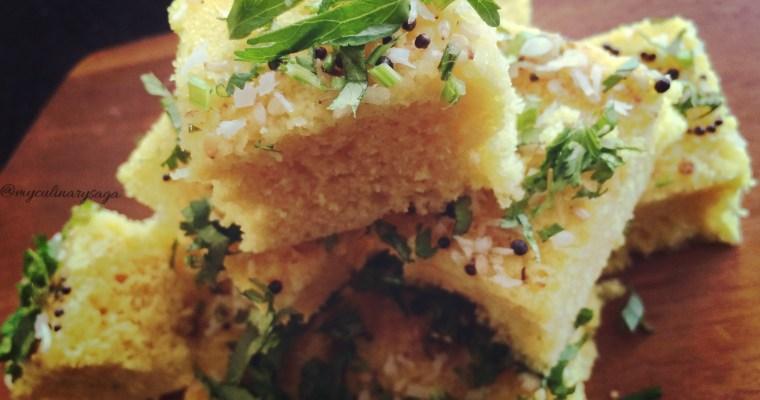 Khaman Dhokla – Steamed Chickpea flour Cake
