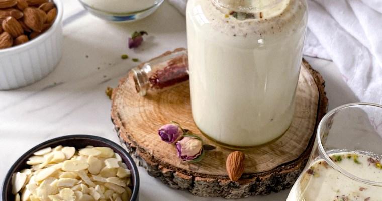 Kesar Badam Doodh / Saffron Almond Milk