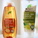 Review: Dr. Organic body scrub & douche gel