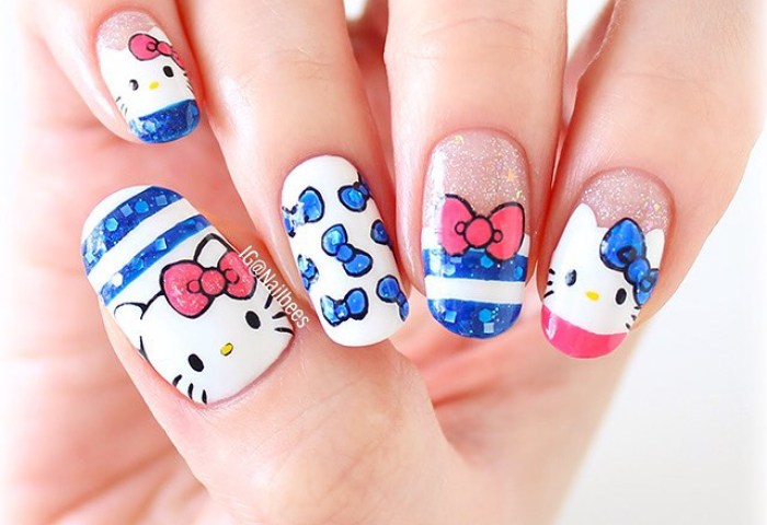 Hello Kitty Nail Art Is As Adorable As You Imagine My Cup Of Tea