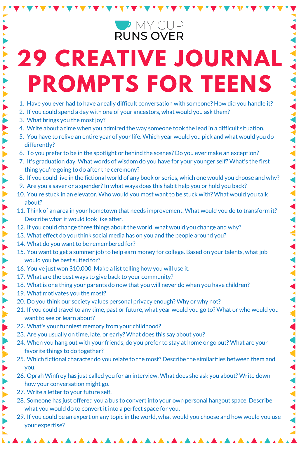 29 Creative Journal Prompts For Teens Fun Prompts To Get