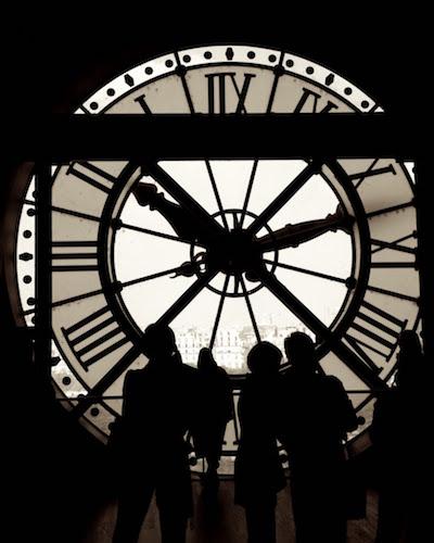 Clock inside Musée d'Orsay, Paris