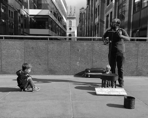 London street puppeteer.