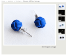The woven look and colour make for a fun and inconspicuous pair of earrings.
