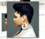 The fact that these are called 'Soul Glo' earrings make my day! Great afro pick earrings.