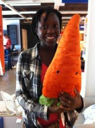 I only realized now I'm holding this carrot upside down.