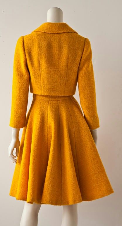 Norman Norell-Inspired Vintage Wool Suit