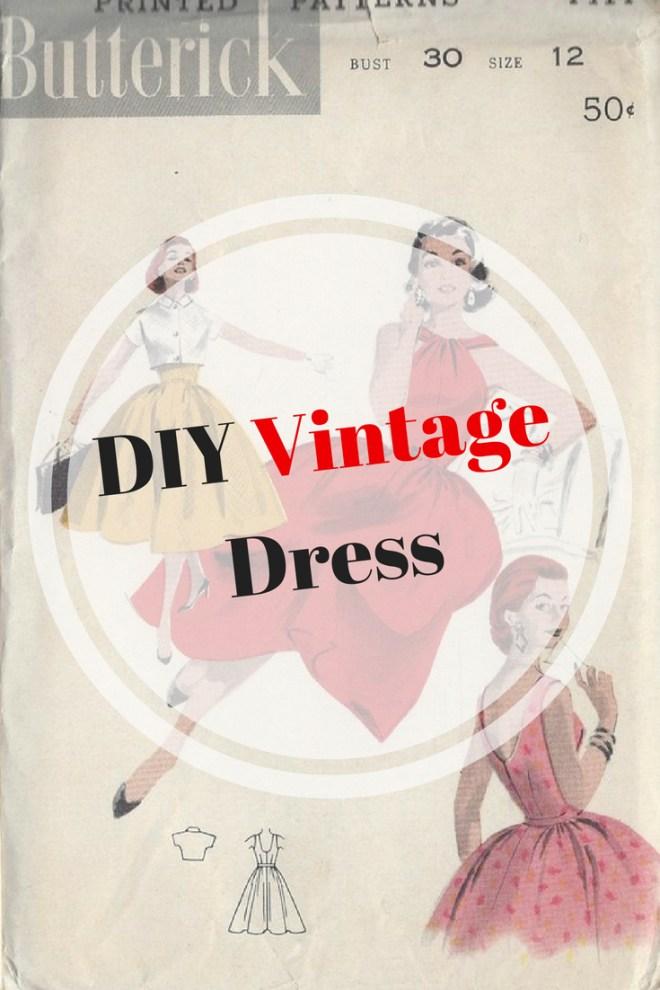 DIY Vintage Dress ,1950's dress
