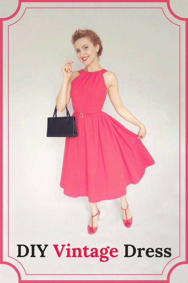 DIY Vintage Dress, 1950's dress, vintage sewing, vintage dress, vintage party dress