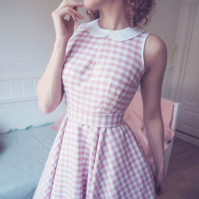 diy vintage gingham dress