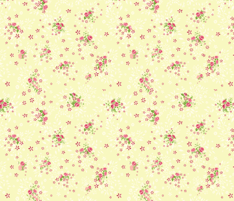 Vintage fabric - this fabric was inspired by vintage floral fabrics from 1940's and 1950's. It is a delicate, floral design reminding me of shabby chic. It is perfect for thiose who love sewing vintage clothes! #1940s #1950s #vintagefabric #vintagesewing