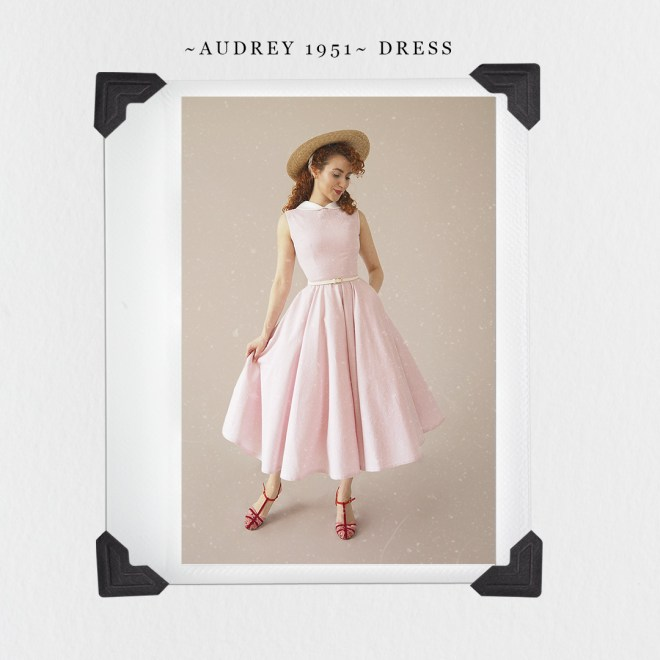 Audrey 1951 Dress Sewing Pattern by My Curly Projects