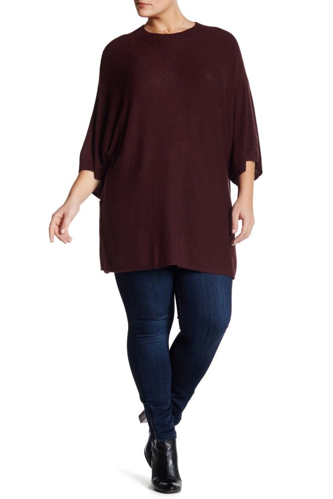 A tunic-style plus size sweater adds a little extra coverage over a skinny pair of leggings. Try a vibrant, geometric print for a pop of color. Try a vibrant, geometric print for a pop of color. Snuggle up in a pair of knit pants while lounging around on a chilly afternoon.