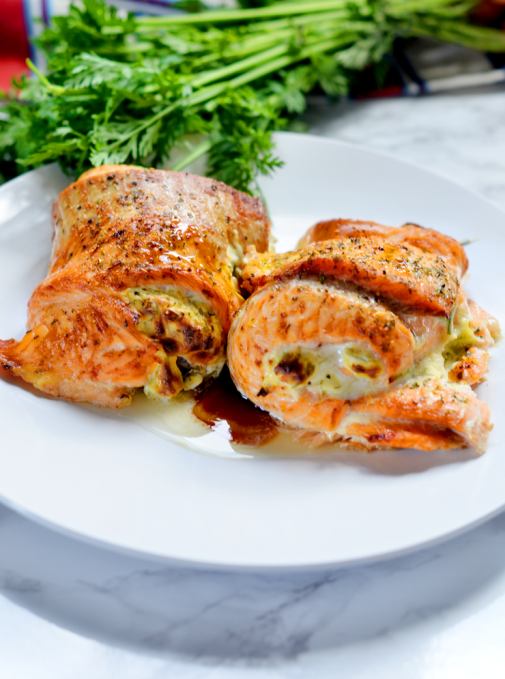 Easy Salmon recipe - Stuffed with Cream Cheese