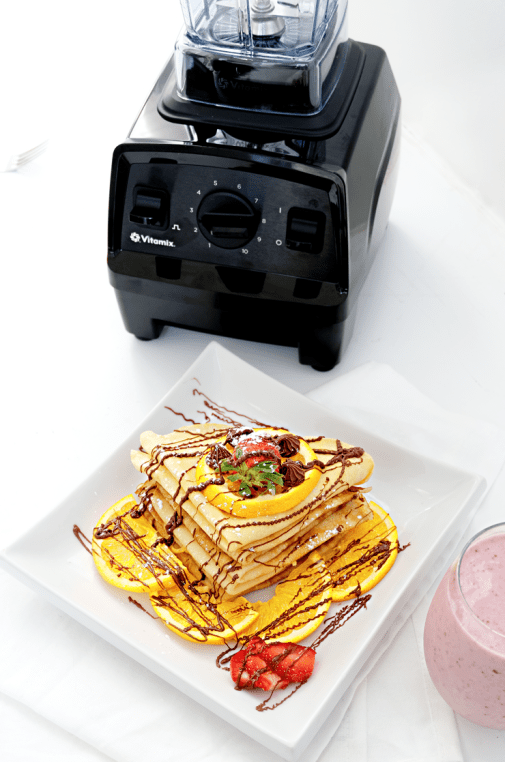 Yummy Crepes with Vitamix E310 Explorian Blender- My Curves and Curves