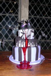 Black Bat Wedding Cake Topper