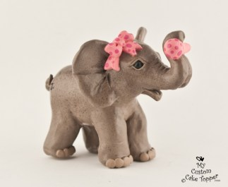 Baby Elephant Birth Cake Topper