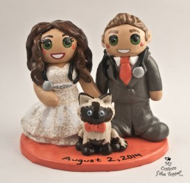 Medical Bride and Groom with Stethoscopes Cake Topper