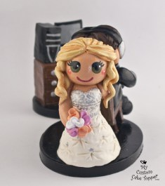 Bride Dragging Her Groom to Altar