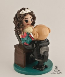 Bride Coming out of Computer Cake Topper
