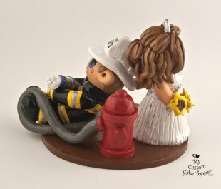 Bride Dragging Groom Fireman