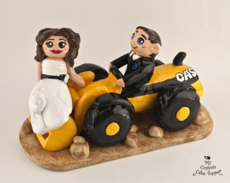Bride And Groom Riding a Front Loader