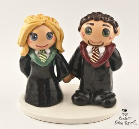 Bride And Groom Harry Potter Fans Cake Topper