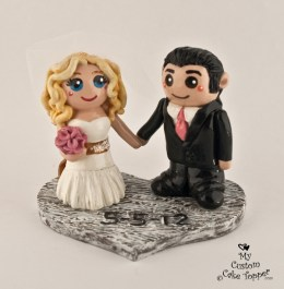 Bride And Groom Rustic Wedding Cake Topper
