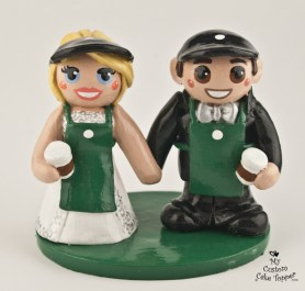 Bride And Groom Met At Starbucks Cake Topper