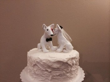Colleen's Target Dogs Wedding Cake Topper
