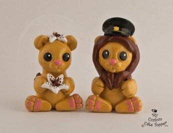 Cute Lions Cake Topper