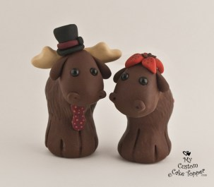 Cute Moose Cake Topper
