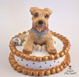 Dog Jumping Out of Cake Topper