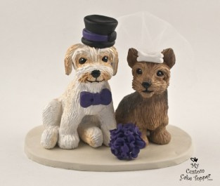 Yorkie and Morkie Cake Topper