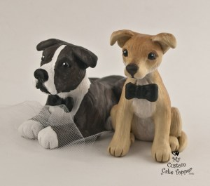 Pet Portrait Dogs Cake Topper