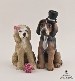 Realistic Dog Wedding Cake Topper