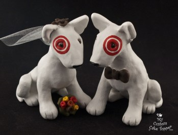 Target Dogs Cake Topper