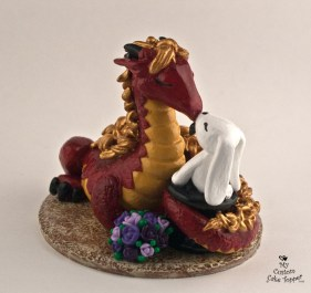 Dragon And Bunny In A Magic Hat Cake Topper