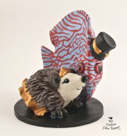 Fish and Hedgehog Wedding Cake Topper