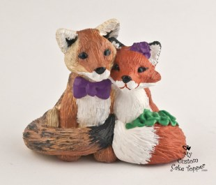 Fox and Coyote Cake Topper
