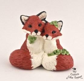 Fox In Love Cake Topper