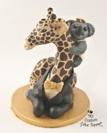 Giraffe and Koala Cake Topper